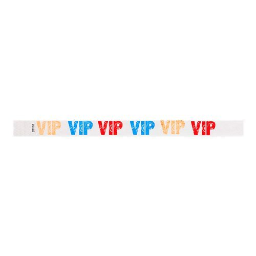 Half Circle Neon Red Secure Paper-Like Admission Band for Events by myZone Printing Pack of 1000 3//4 Tyvek Pattern Wristbands