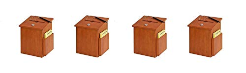 (Buddy Products Wood Suggestion Box, 7.25 x 10 x 7.5 Inches, Medium Oak (Pack of 2) )