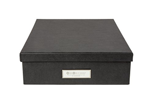 - Bigso Oskar Document/Letter Storage Box, Dark Grey