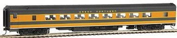 Walthers HO Scale Streamlined Pullman-Standard Plan #7484 64-Seat Coach - Ready To Run - Great Northern