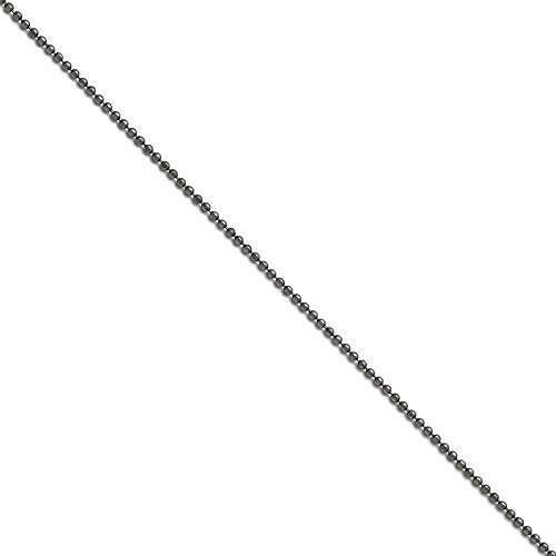 Stainless Steel 2mm 22 inch Beaded Ball Antiqued Chain 22'' inches length