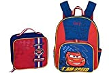 Disney Store Lightning McQueen Cars Backpack and Lunch Box Set