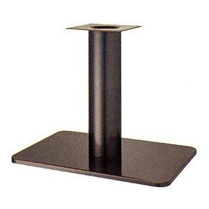 e-kanamono テーブル脚 マリオS7680 ベース680x455 パイプ139φ 受座240x240 シービーメッキ AJ付 高さ700mmまで B012CCD0A0