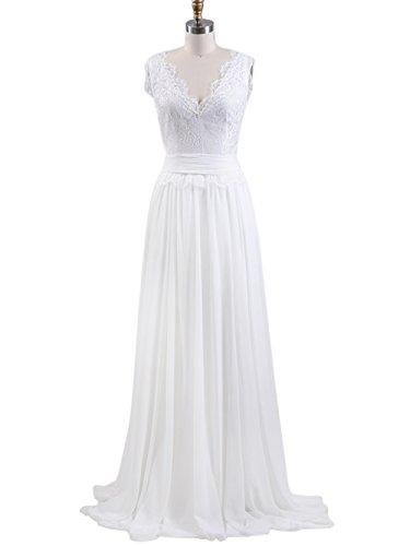Sposa Per Merletto 2017 Floreale Elegante Di Festa Annie La Sposa White4 Vestito Di Dell'annata Nozze Del 67nxwqH741