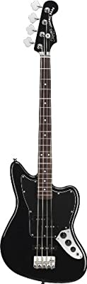 Squier Vintage Modified Jaguar Special Short Scale Bass, Black from Squier by Fender