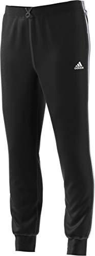 Adidas Mens Essential Cotton Fleece Jogger Sweatpants (Black/White, Medium) (Black/White, Medium)