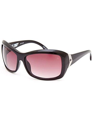 Spy Optic Farrah Flat Sunglasses,Black/Happy Merlot Fade,62 mm