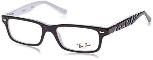 Ray Ban Junior RY1535 Eyeglasses-3579 Top Black On - And Black White Bans Ray