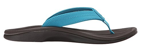 Olukai Ohana Sandale - Frauen Tropisches Blau / dunkles Java