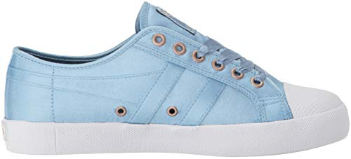 indian Satin Gola da Ex blu bianco Teal Indian white Coaster donna Sneakers Teal BxwHpTz