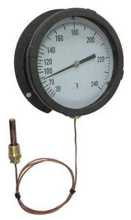 Analog Panel Mt Thermometer, 30 to 240F by Materro