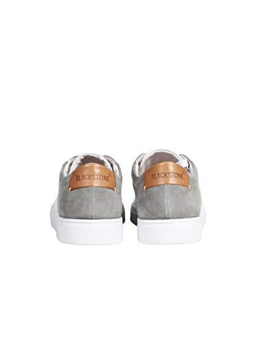 Blackstone Herren Sneaker Aus Glatt- und Wildleder Weiss-Grau White Grey