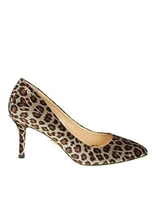 CHARLOTTE OLYMPIA P186027A080015 Mujer Leopardo Terciopelo Zapatos Altos