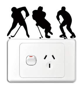 - Hockey Players Vinyl Switch Sticker Decor Lightswitch Decor Wall Decals Shipped from USA