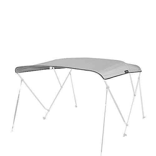 MSC 600D Canopy Canvas Replacement Without Poles (Gray, Fits 6'Lx73-78 W 3 Bow Bimini ()
