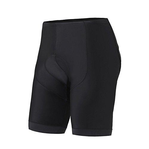 FASTONT Men's Cycling Shorts with 3D Padded Bike Shorts Comfortable Riding Shorts (Black, Medium) -