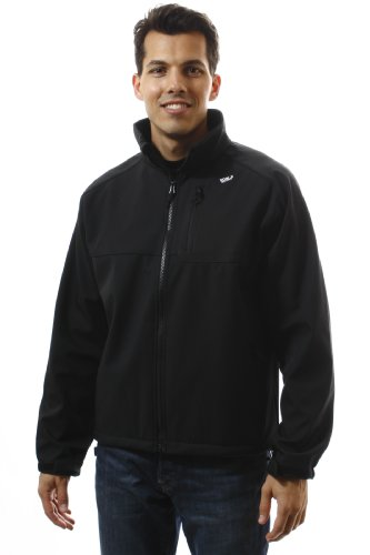 Noble Mount Men's 'Chill-Buster' Softshell Jacket - Black/Blue