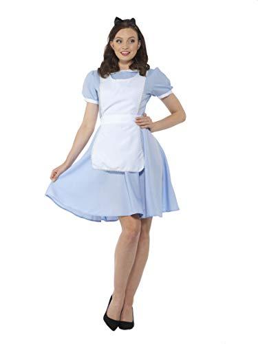 Easy Fairy Tale Halloween Costumes (Fairytale Cosplay Costume - Halloween Womens Blue White Maid Dress Set,)