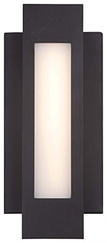 George Kovacs P1230-286-L, Wall Sconces Outdoor Wall Sconce Lighting LED, Pebble Bronze by George Kovacs by Kovacs