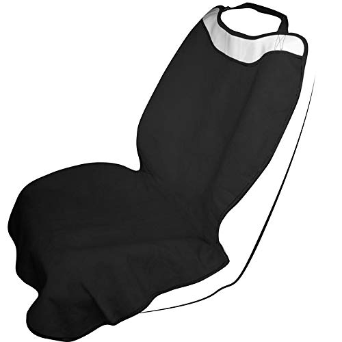 (Motorup America Yoga Sweat Towl Auto Seat Cover - Fits Select Vehicles Car Truck Van SUV - Black)