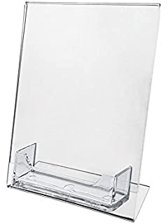 Amazon 10 pack of tz tagz brand acrylic 5x7 sign holder with source one 5 x 7 slant back sign holder with business card holder 10 pack colourmoves