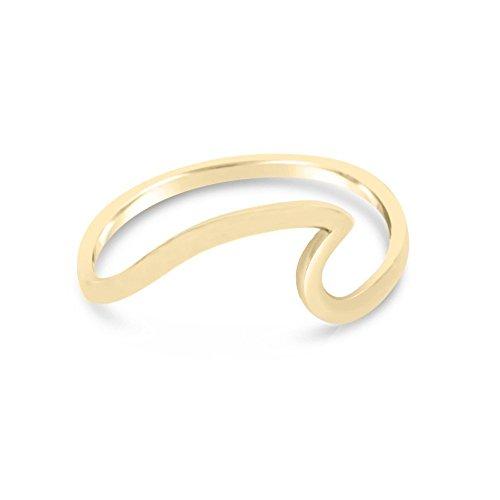 Amazon Gold Wave Ring Handmade