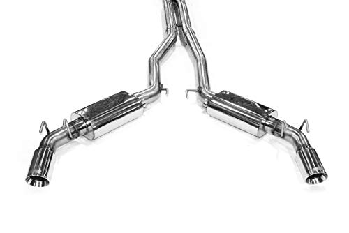 (Kooks Custom Headers 22504200 Cat Back Exhaust System Complete 3 in. OEM Style Incl. 3 in. X Pipe/Kooks Polished Oval Race Mufflers/4 in. Polished Slash Cut Tips Cat Back Exhaust System)