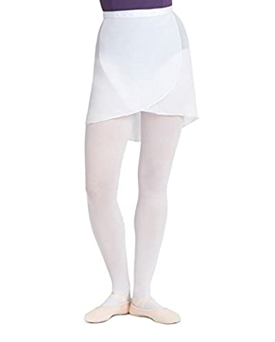 Capezio Adult Georgette Wrap Skirt White Adult Small - Capezio Wrap Skirt