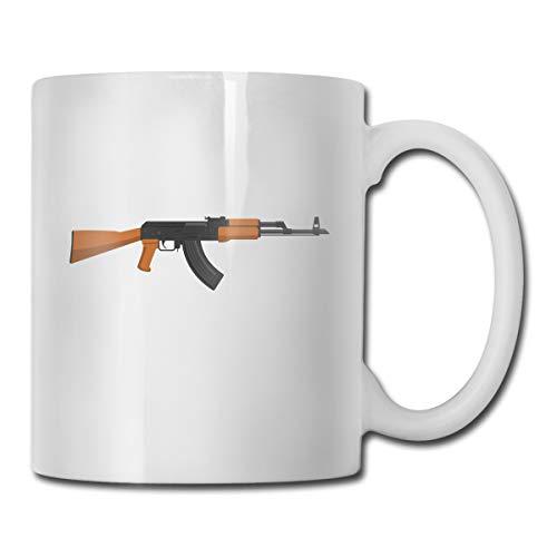 Porcelain Coffee Mug Gun Brown Black Shape Ceramic Cup Tea Brewing Cups for Home Office ()