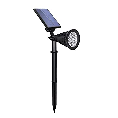 Solar Spotlight Lights Motion Sensor Landscape Lights 6 LED Waterproof Outdoor Security Lighting 180 ° Adjustable Wall Light Auto On/Off for Yard Garden Driveway Pathway Pool Tree Patio