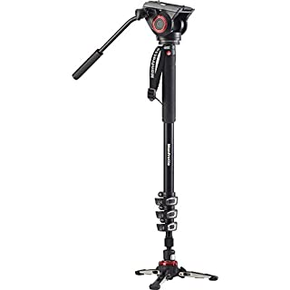 Manfrotto Xpro Aluminum Video Monopod with 500 Series Video Head, Black (MVMXPRO500US) (B01MDR8K49) | Amazon price tracker / tracking, Amazon price history charts, Amazon price watches, Amazon price drop alerts