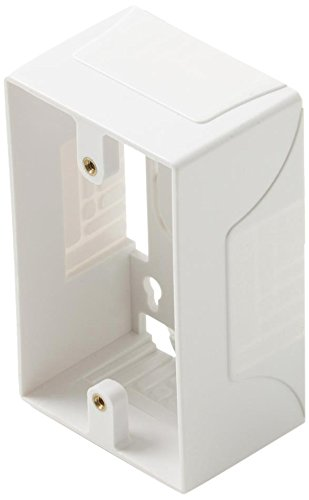 - Steren White Single Gang Surface Mount Junction Box