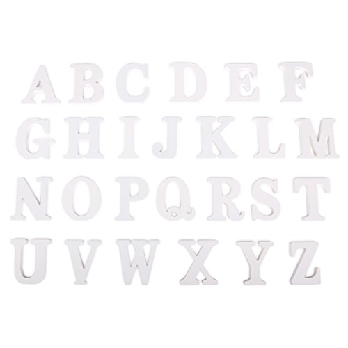 FUT_Forevre Decorative Wooden Letters Hanging Wall 26 Letters Three-Dimensional Wood Alphabet Letters for Baby Name Girls Bedroom Wedding Birthday Party by FUT_Forevre