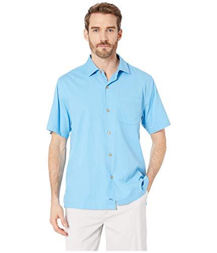 Tommy Bahama Men's Catalina Stretch Twill Shirt Beach Hut Blue XX-Large (Bahama Blue Tommy)