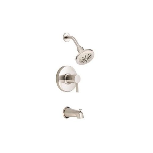 Danze Nickel Tub - Danze Amalfi Single Handle Pressure Balance Brushed Nickel Tub/ Shower Faucet