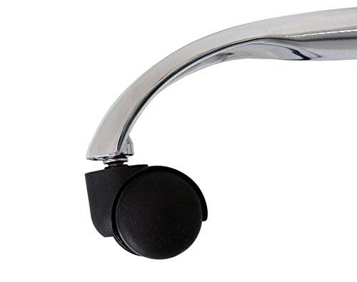 La Silla Española Pontevedra Silla de Oficina y Despacho, Piel Sintética, Negro, 64x67x124 cm: Amazon.es: Hogar