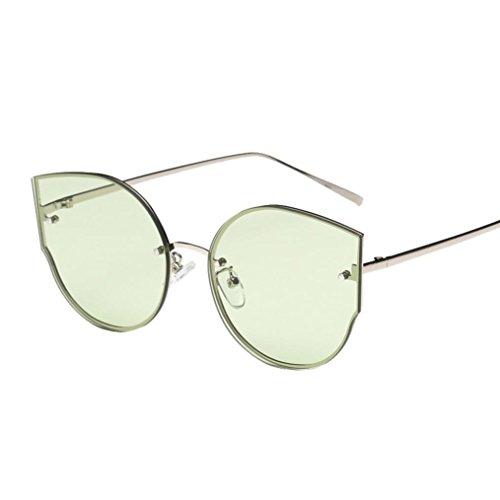 Hot sale!Elevin(TM)2017 New Woman Men Ladies Female Fashion Colours Vintage Cat Eye Retro Classic Stylish Brand Metal Frame Mirror Sunglasses Eyeglasses (Green, - Eyeglasses Stylish 2017
