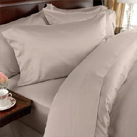 Egyptian Bedding 1200 Thread Count King Siberian Goose Down Comforter 8 PC Bed In A Bag Beige Solid