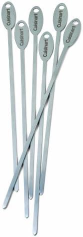 Cuisinart Espetos de aço inoxidável CSKS-166 (conjunto de 6), metálico
