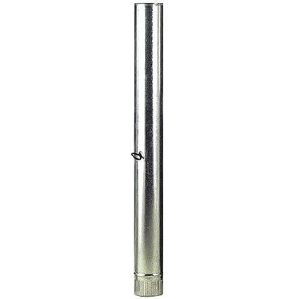 Tubo Estufa Galvanizado De 110mm Con Llave