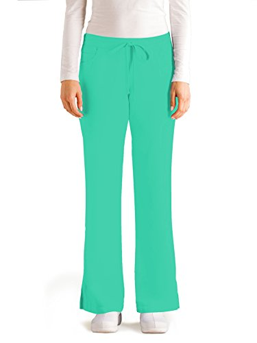 Grey's Anatomy Women's Junior-Fit Five-Pocket Drawstring Scrub Pant - X-Large - Honeydew by Barco