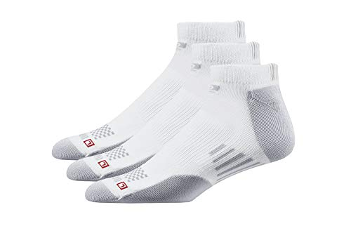Drymax Low Cut Running Socks for Men and Women (3 Pairs) | Super Breathable Performance Keep Feet Dry, Comfy and Blister-Free, XL, White, Medium Cushion