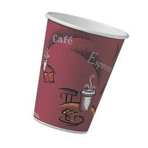 SOLO OF16BI-0041 Single-Sided Poly Paper Hot Cup, 16 oz (100 ()