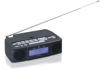 RadioShack All Hazards Weather Alert Clock Radio With Skywarn 12-519