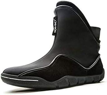 冬暖かい雪のブーツ防水チューブカジュアルシューズノンスリップ摩耗ラバーソール屋外綿のブーツ (色 : 黒, サイズ : 26.5 CM)