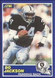 1989 Score Bo Jackson Football Card #2 - Shipped In Protective Display Case!