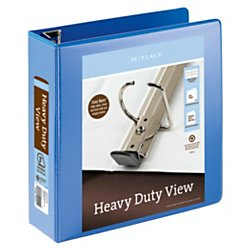 Office Depot(R) Brand Heavy-Duty Easy Open(R) D-Ring View Binder, 3in. Rings, 8 1/2in. x 11in., 650-Capacity, Blue