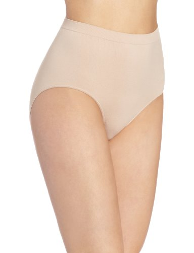Bali Women's Comfort Revolution Seamless Brief Panty,Nude,6/7