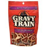 Gravy Train Steak Bones Beef Flavor Dog Treats Pack of 6