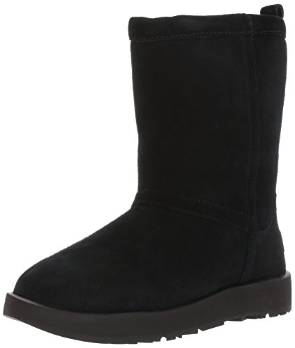 UGG Women's Classic Short Waterproof Snow Boot, Black, 7 M US (Short Ii Classic)